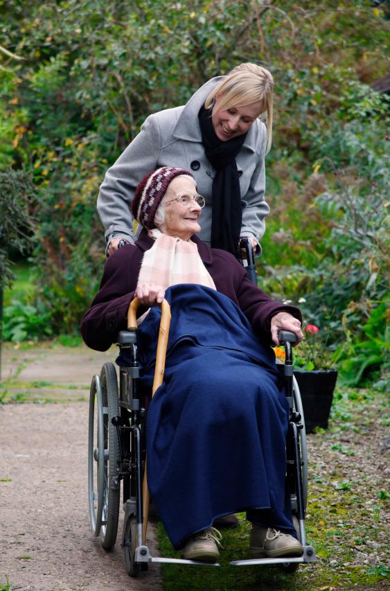 Elderly patient with caregiver