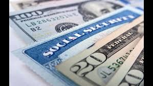 American money and social security card