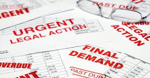 past due bills in debt collection