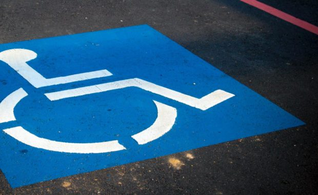 parking space for a driver with disability