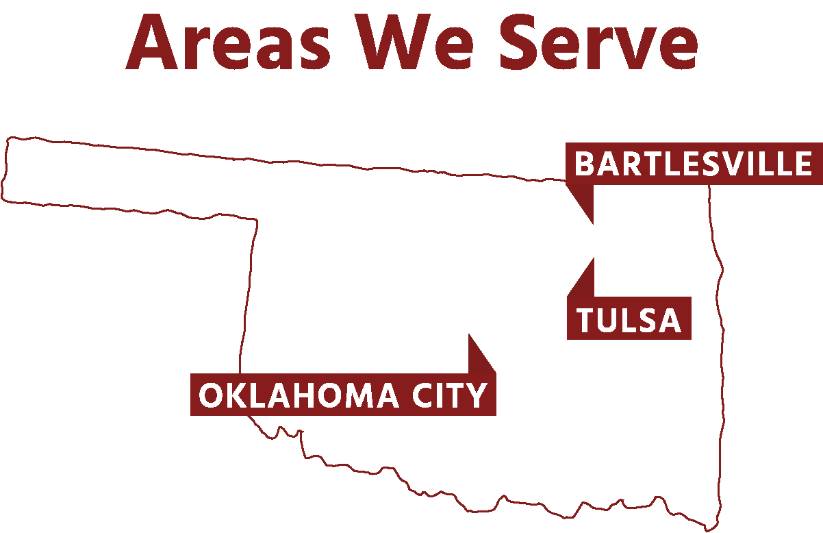Areas We Serve - Oklahoma City, Tulsa, Bartlesville